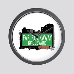 FAR ROCKAWAY BOULEVARD, QUEENS, NYC Wall Clock