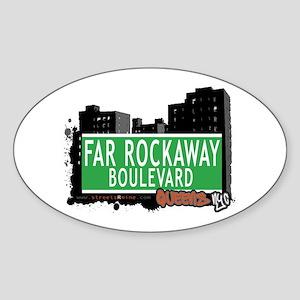 FAR ROCKAWAY BOULEVARD, QUEENS, NYC Oval Sticker