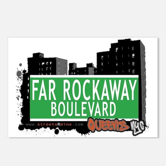 FAR ROCKAWAY BOULEVARD, QUEENS, NYC Postcards (Pac