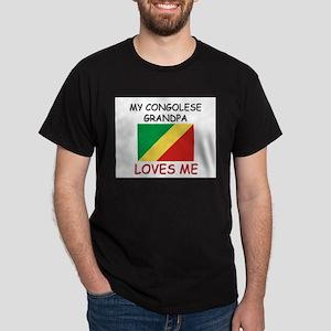 My Congolese Grandpa Loves Me Dark T-Shirt