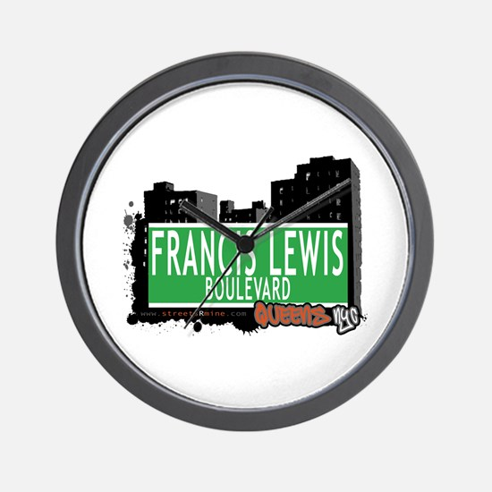 FRANCIS LEWIS BOULEVARD, QUEENS, NYC Wall Clock