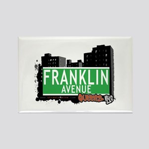 FRANKLIN AVENUE, QUEENS, NYC Rectangle Magnet