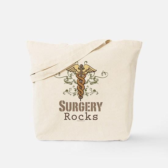 Surgery Rocks Caduceus Tote Bag