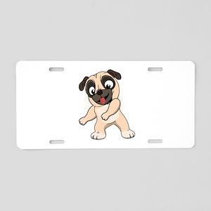 Floss Dance Move Pug Aluminum License Plate