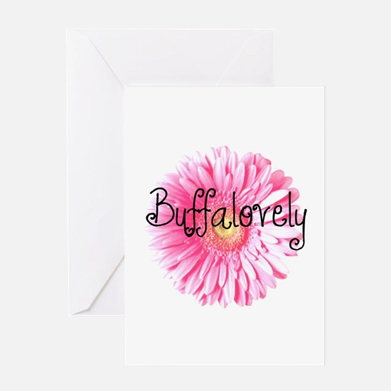 Buffalovely Gerber Daisy Greeting Card