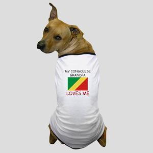 My Congolese Grandpa Loves Me Dog T-Shirt