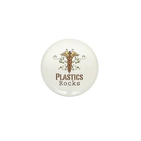 Plastics Rocks Caduceus Mini Button