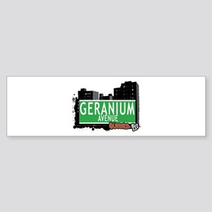 GERANIUM AVENUE, QUEENS, NYC Bumper Sticker