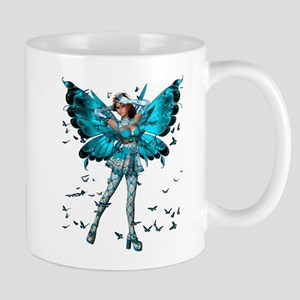 Butterfly Kisses Blue Topaz Mug