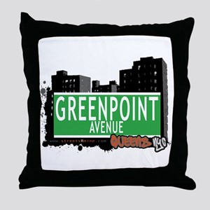 GREENPOINT AVENUE, QUEENS, NYC Throw Pillow