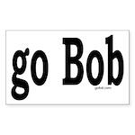 go Bob Rectangle Sticker