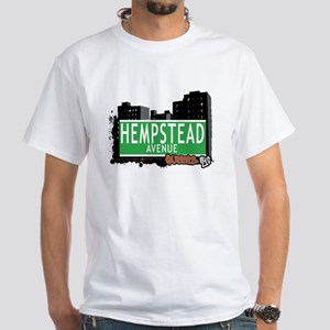 HEMPSTEAD AVENUE, QUEENS, NYC White T-Shirt