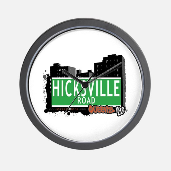 HICKSVILLE ROAD, QUEENS, NYC Wall Clock
