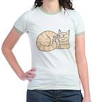 Orange Tabby ASL Kitty Jr. Ringer T-Shirt