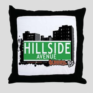 HILLSIDE AVENUE, QUEENS, NYC Throw Pillow