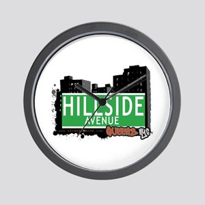 HILLSIDE AVENUE, QUEENS, NYC Wall Clock