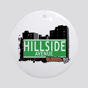 HILLSIDE AVENUE, QUEENS, NYC Ornament (Round)