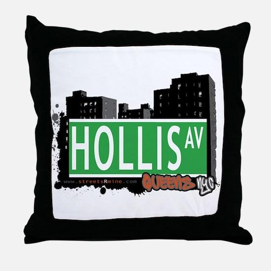 HOLLIS AVENUE, QUEENS, NYC Throw Pillow