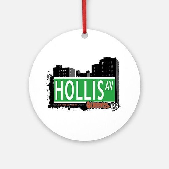 HOLLIS AVENUE, QUEENS, NYC Ornament (Round)