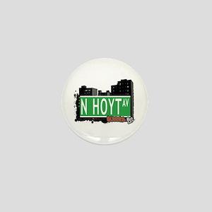 N HOYT AVENUE, QUEENS, NYC Mini Button