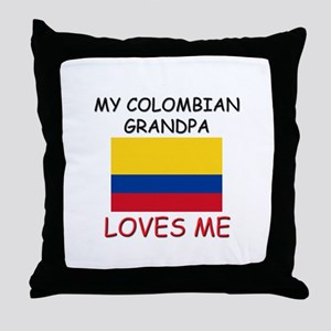 My Colombian Grandpa Loves Me Throw Pillow