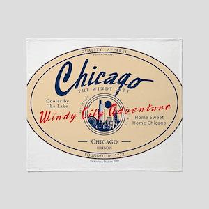 Chicago Windy City Adventure Throw Blanket