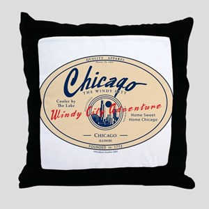 Chicago Windy City Adventure Throw Pillow