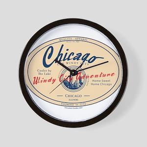 Chicago Windy City Adventure Wall Clock