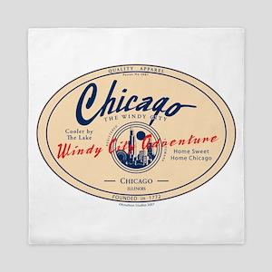 Chicago Windy City Adventure Queen Duvet