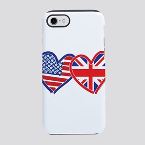 American Flag/Union Jack Flag iPhone 8/7 Tough Cas