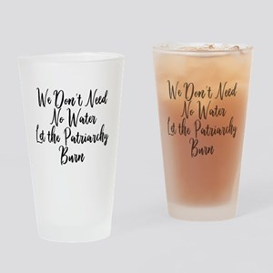 Anti Patriarchy Feminist Drinking Glass