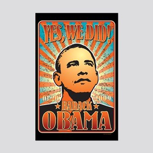 Yes, We Did! Obama Mini Poster Print