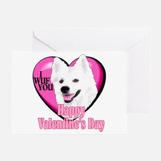 American Eskimo Valentines Greeting Card