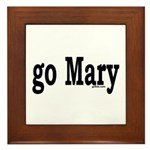go Mary Framed Tile