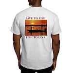 LIVE TO FISH! Ash Grey T-Shirt
