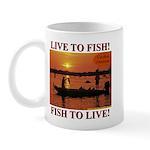 LIVE TO FISH! Mug