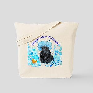 Scottish Terrier Bubble Bath Tote Bag
