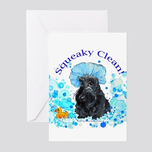 Scottish Terrier Bubble Bath Greeting Cards (Pk of