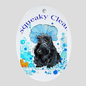 Scottish Terrier Bubble Bath Oval Ornament