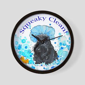 Scottish Terrier Bubble Bath Wall Clock