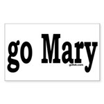 go Mary Rectangle Sticker