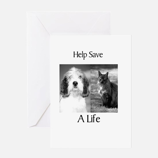 Help Save A Pets Life Greeting Card
