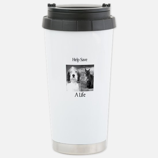 Help Save A Pets Life Stainless Steel Travel Mug