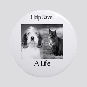 Help Save A Pets Life Ornament (Round)