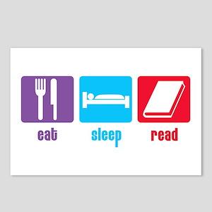 Eat Sleep Read Postcards (Package of 8)