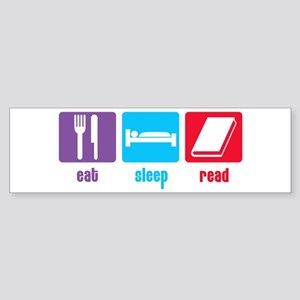 Eat Sleep Read Bumper Sticker