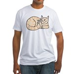 Orange Tabby ASL Kitty Fitted T-Shirt