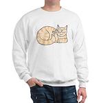 Orange Tabby ASL Kitty Sweatshirt