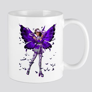Butterfly Kisses Tanzanite Mug