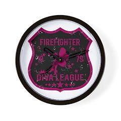 Firefighter Diva League Wall Clock